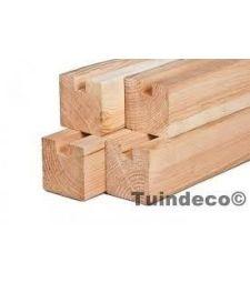 Douglas stapelbouw eindpaal geschaafd 11.5x11.5x300 cm.