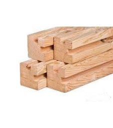 Douglas stapelbouw hoekpaal geschaafd 11.5x11.5x300 cm.