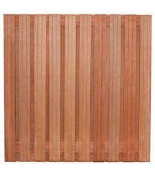 Tuinscherm hardhout Dronten. 19 plus 2 planks.