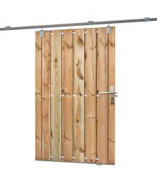 Schuifdeur B130xH195 cm. Incl. rail en bevestigingsmaterialen. Diverse houtsoorten.