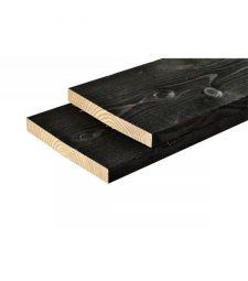 Steigerhout Zwart gespoten 2x20x400 cm.