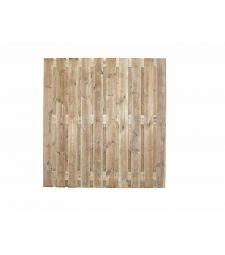 Tuinscherm Prive H195xB180 cm. 19 planks.
