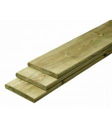 Tuinplank geimpregneerd Grenen 1.6x14 cm.